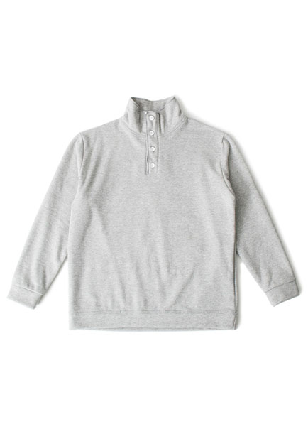 [더오피셜위크앤드]BUTTON POLONECK SWEAT SHIRT